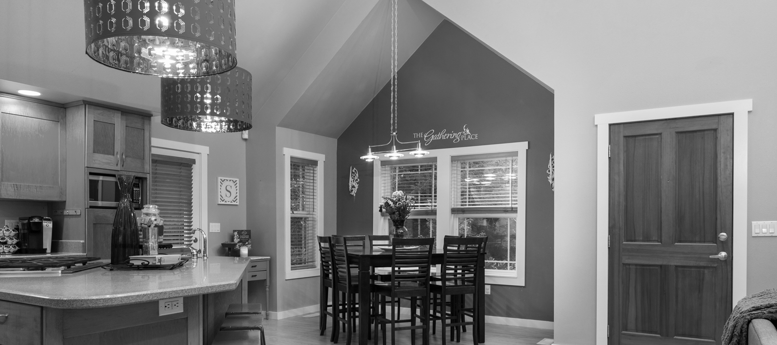 Modern Kitchen Area (B&W)