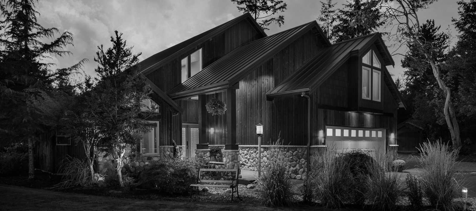 Old style wooden house(B & W)